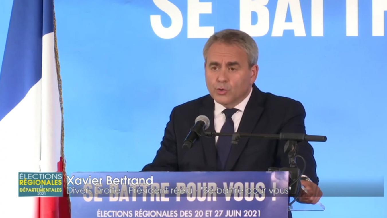 Xavier Bertrand, largement vainqueur dans les Hauts-de-France, prêt à aller à « la rencontre de tous les Français »