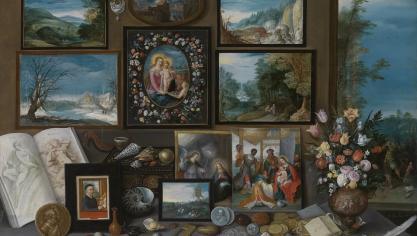 Frans II Francken a été précurseur. Il a lancé le genre des cabinets d'amateurs. D'abord peintre d'église, il varie les thèmes et à travers eux la critique de la société lorsqu'il se tourne vers une clientèle bourgeoise et aristocrate. Il a produit un important nombre d'œuvres grâce à son atelier et ses nombreux collaborateurs, toujours avec le souci du détail. Crédit : Cabinet de curiosités (1619) huile sur bois, Anvers Koninklijk Museum voor Schone Kunsten