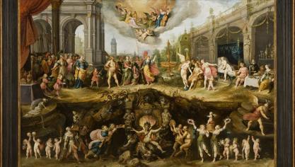 L'Eternel dilemme de l'homme : le choix entre le Vice et la Vertu constitue l'une des pièces majeures de l'exposition La Dynastie Francken. C'est une huile sur bois datée de 1633 exposée au musée de Boston. Elle provient d'une collection particulière.