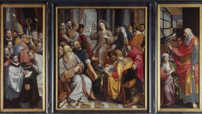 Le Christ parmi les docteurs est un retable attribué à Frans I Francken a été commandé par la corporation des maîtres savonniers d'Anvers en 1587. Il vient de la cathédrale d'Anvers.