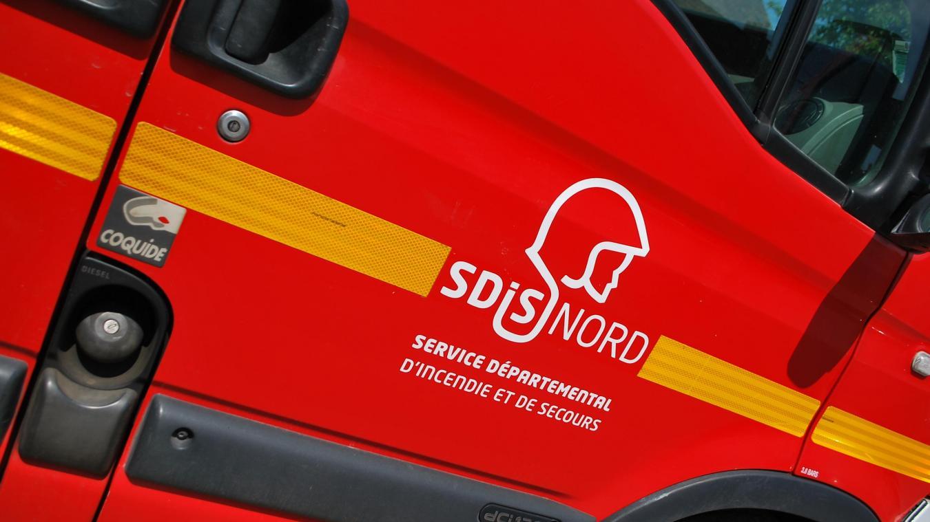 Onze pompiers ont été mobilisés pour porter secours au chauffeur électrisé à Wallon-Cappel.