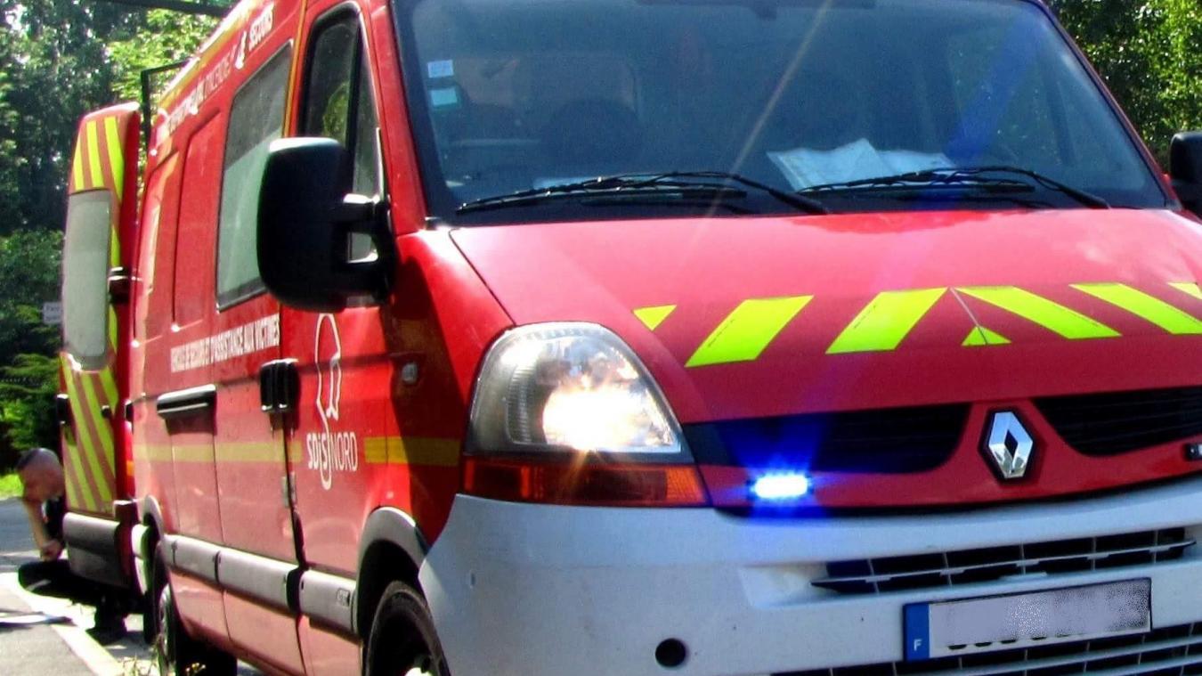 L'un des deux blessés a été transporté au Centre hospitalier de Dunkerque.