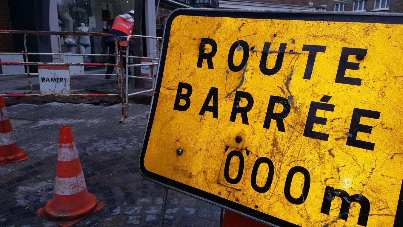 Attention aux routes barrées à cause de travaux