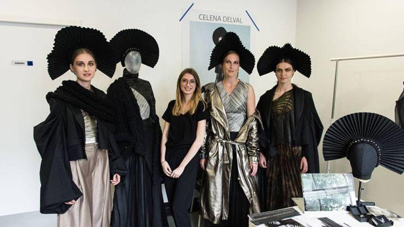 Jeune styliste Boulonnaise, Celena présente sa matelote lors d'un concours international