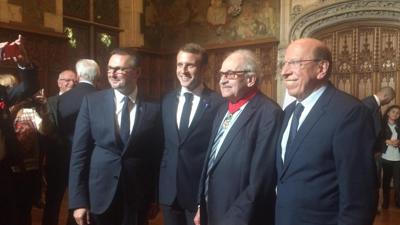 Léon Fatous distingué par Emmanuel Macron (Galerie photo)