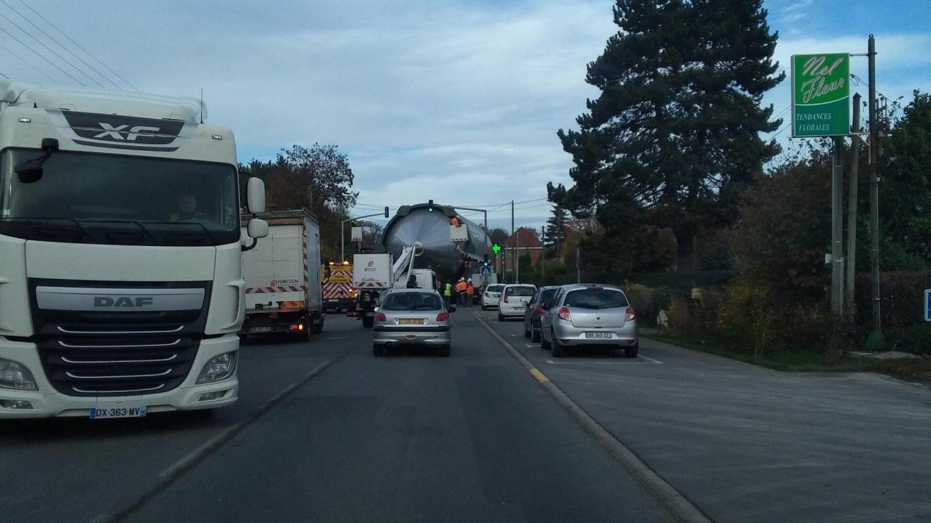 Le convoi a fortement perturbé la circulation.