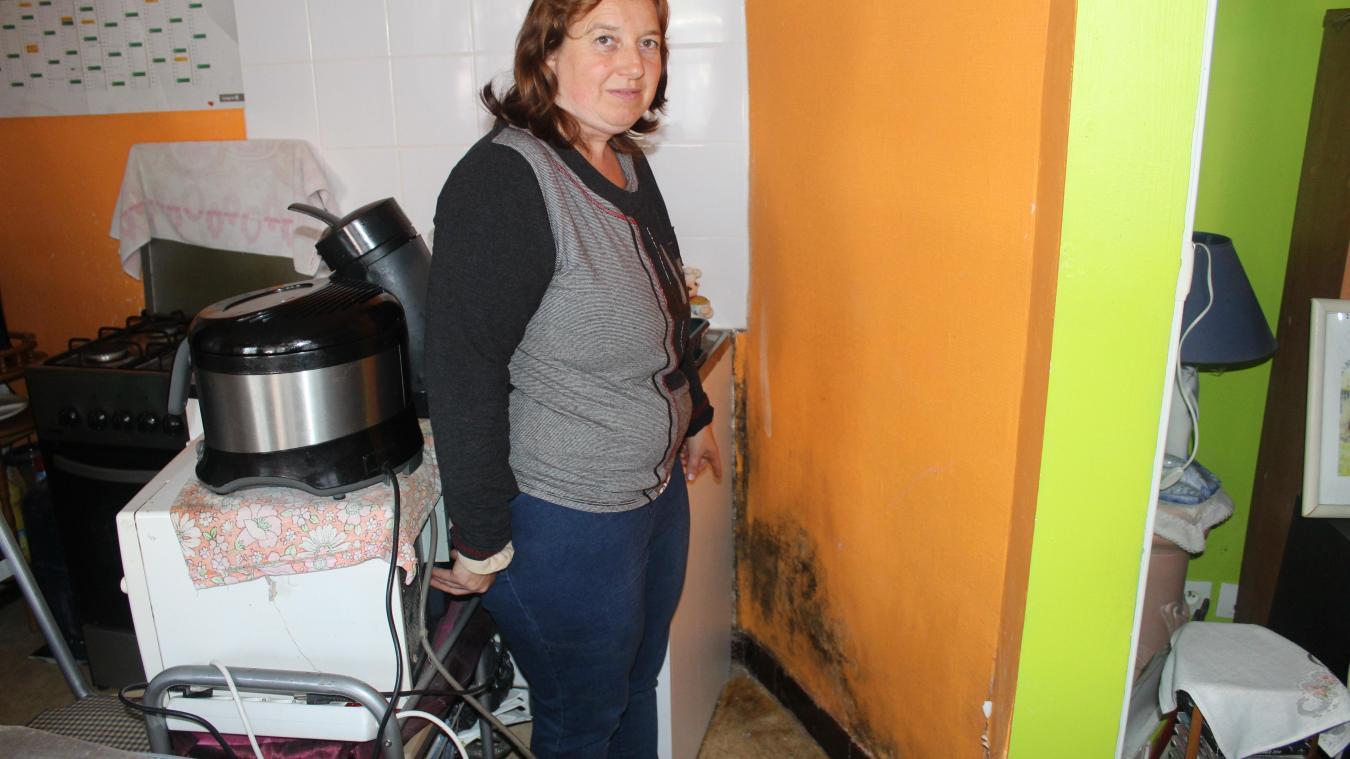 Verquin : elle vit dans des murs moisis d'humidité
