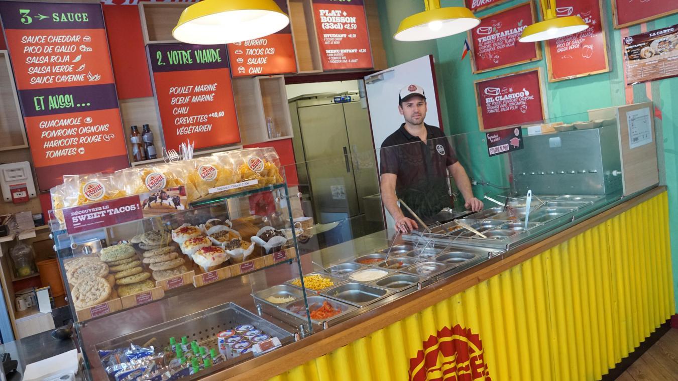 Le Fresh Burritos de Dunkerque fait partie de la dizaine de restaurants accessibles depuis l'application.