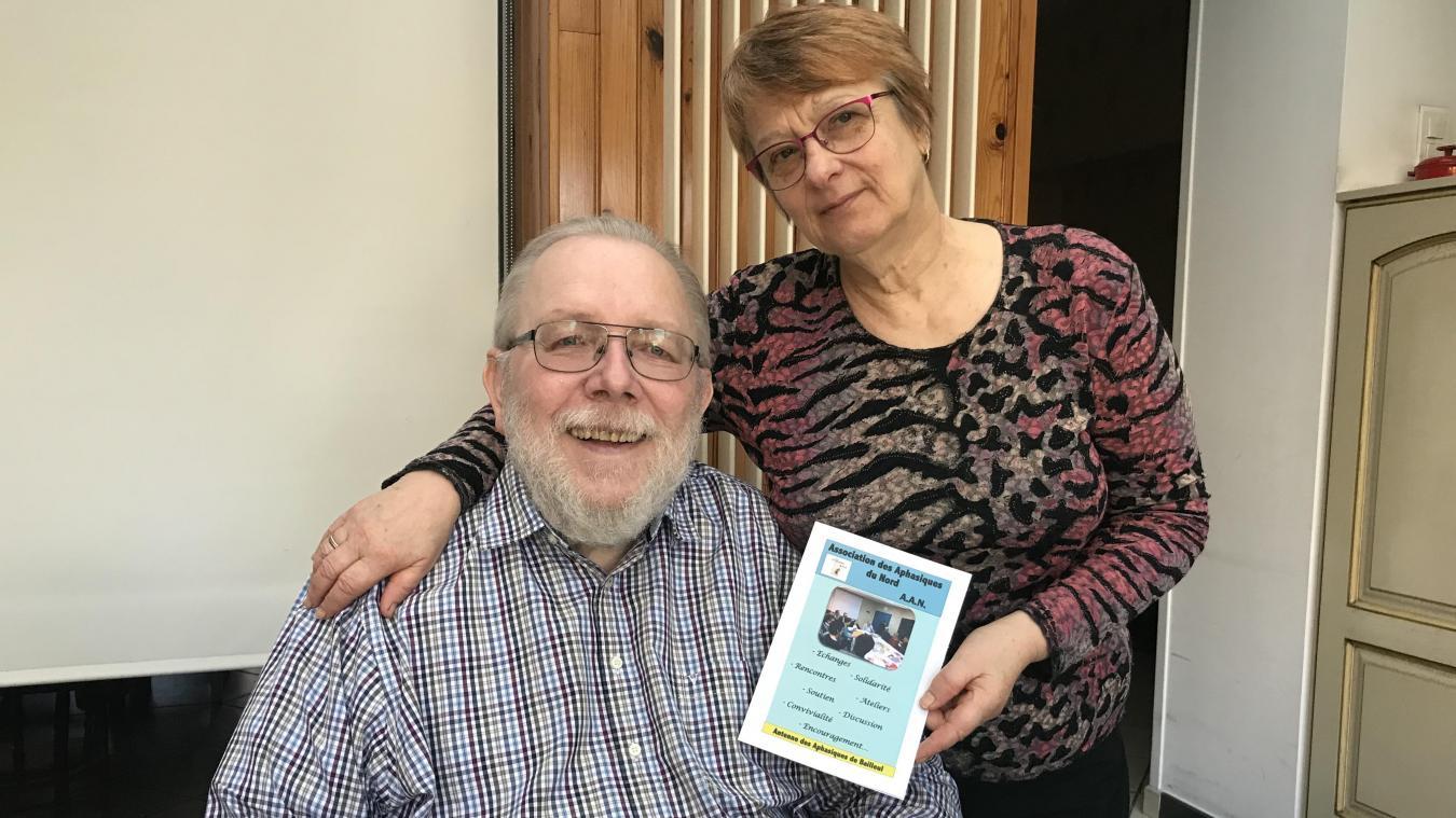 Le couple témoigne pour aider d'autres familles. Samedi 17 novembre, une rencontre est proposée à Bailleul dans le cadre de la semaine nationale de l'aphasie.
