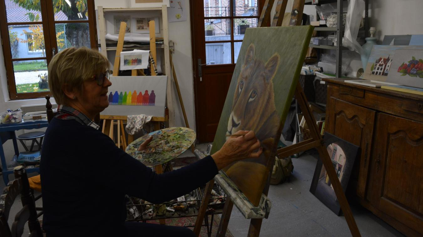 Anne Spas passe trois jours par semaine dans son atelier. Son mot d'ordre : aucun interdit.
