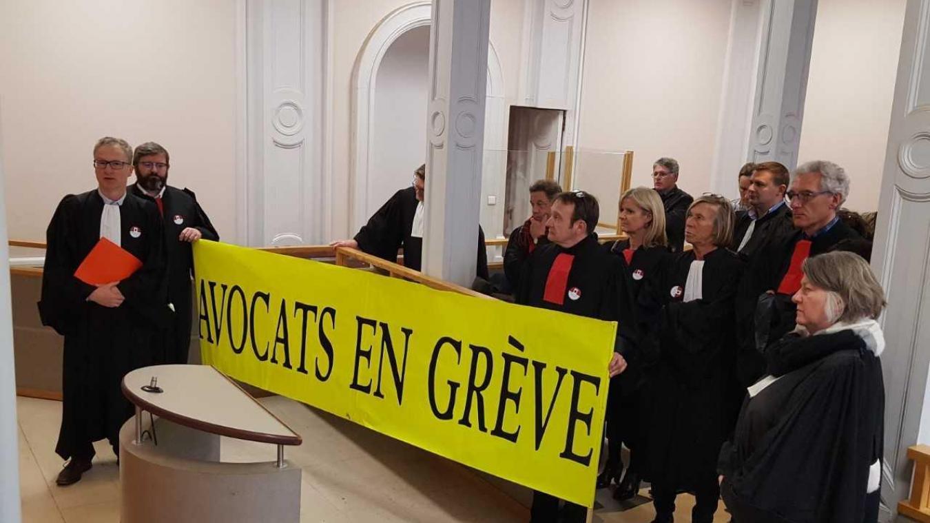 Les avocats audomarois ont expliqué les raisons de leur mouvement de grève à l'audience de ce mardi 20 novembre.