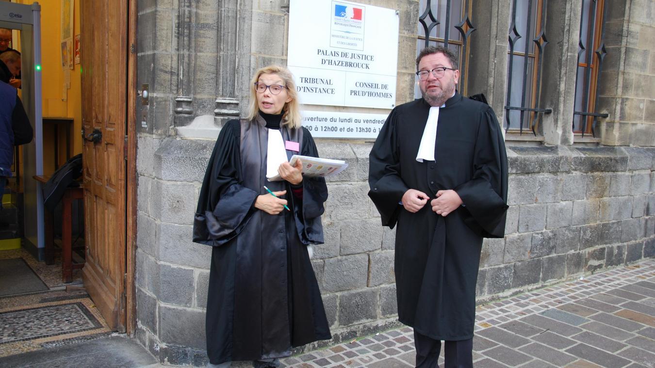 Opération « Justice morte » au tribunal d'Hazebrouck