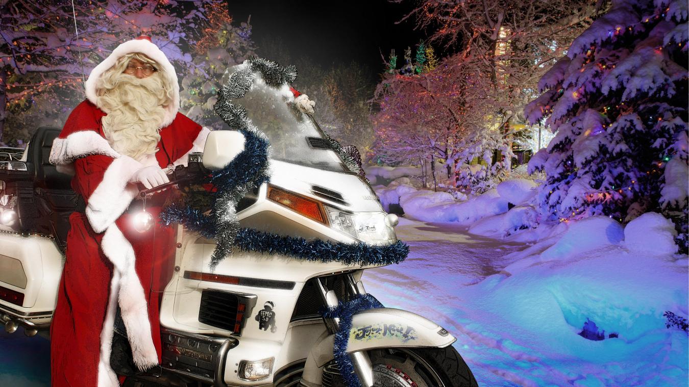 Solidarité : le Père Noël est un motard et s'arrêtera au Five