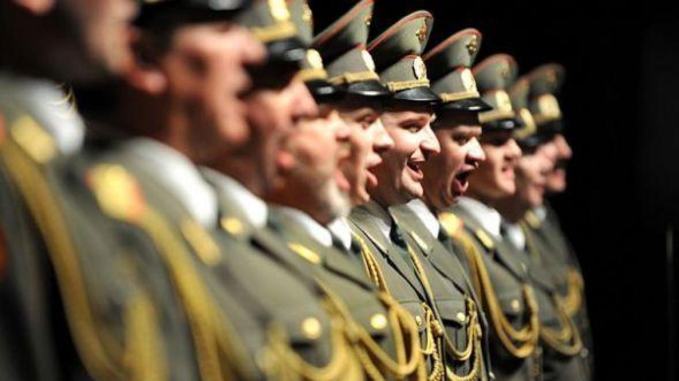 Les Chœurs de l'Armée russe débarquent à Aire-sur-la-Lys