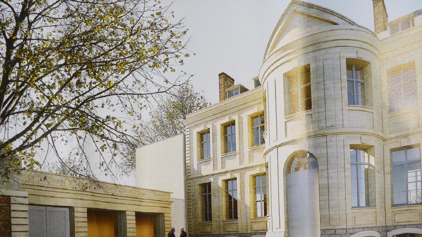 Une extension devrait être créée sur la gauche de l'hôtel particulier.