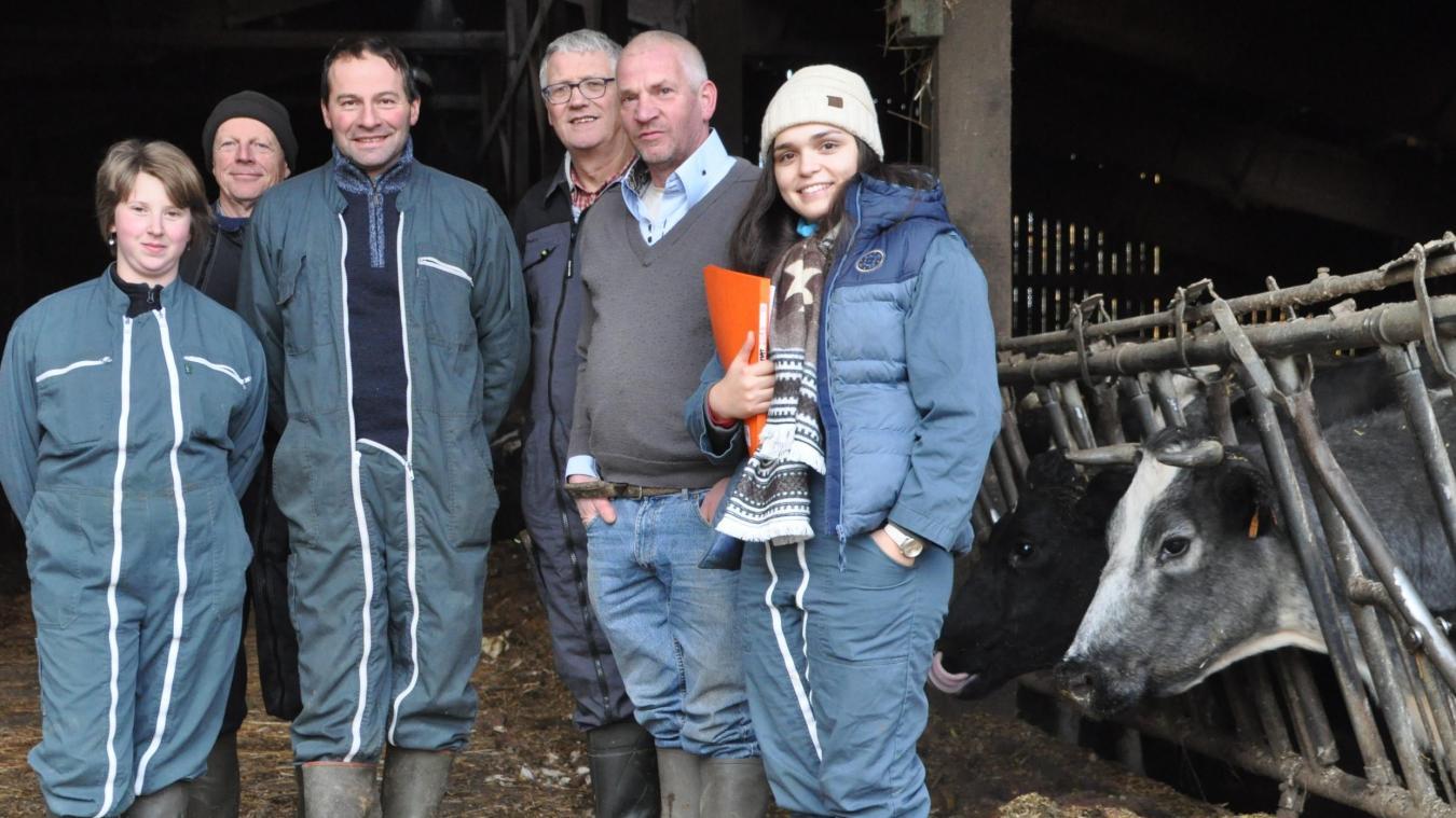 Les membres de la commission sélection ont observé l'élevage de Denis Darque.