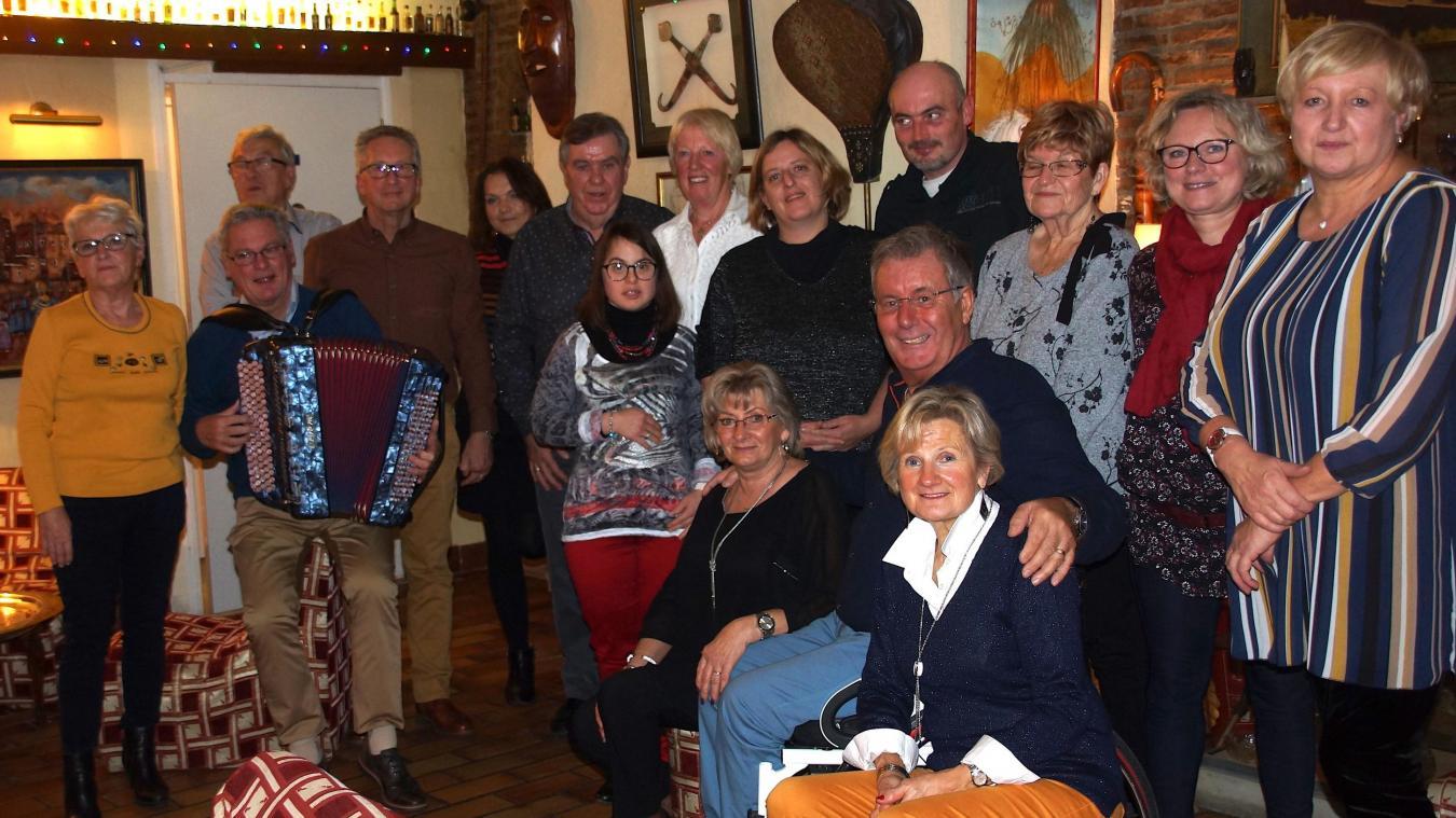 Les férus d'accordéon étaient heureux de se retrouver pour une soirée sous le signe de l'amitié.