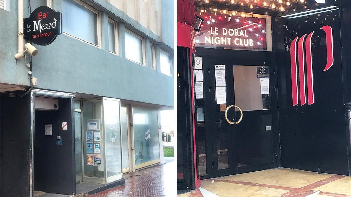Le Mezzo et Le Doral devront garder leurs portes fermées jusqu'au 7 décembre sur décision préfectorale.