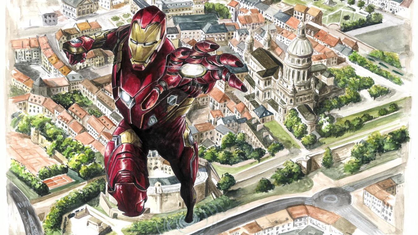 Stan Lee n'y a jamais pensé, mais Jim Colorex a immortalisé le vol d'Iron Man au-dessus de la cathédrale de Boulogne.
