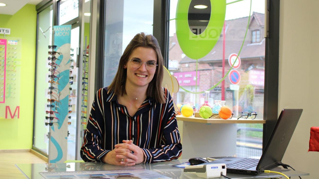 Pauline est opticienne à Divion depuis le mois d'août 2018.