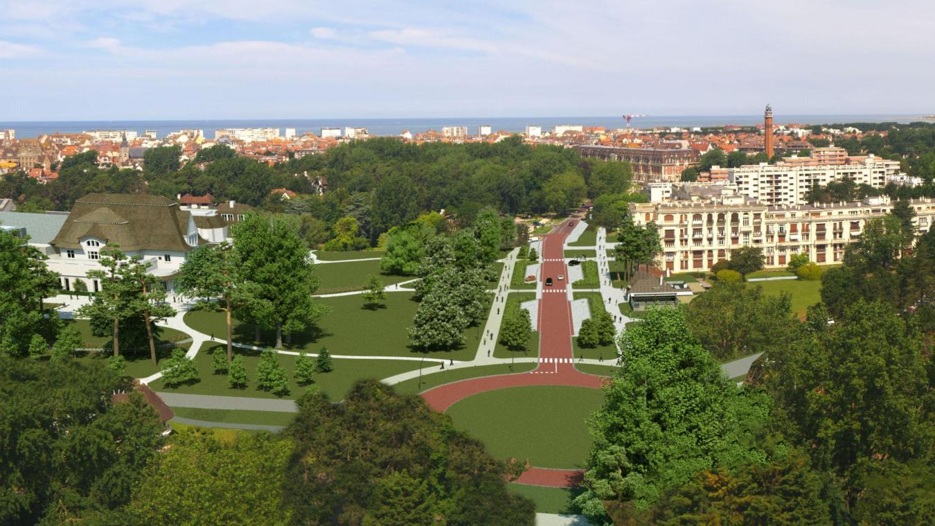 Vue du lycée, la future avenue de l'Hermitage