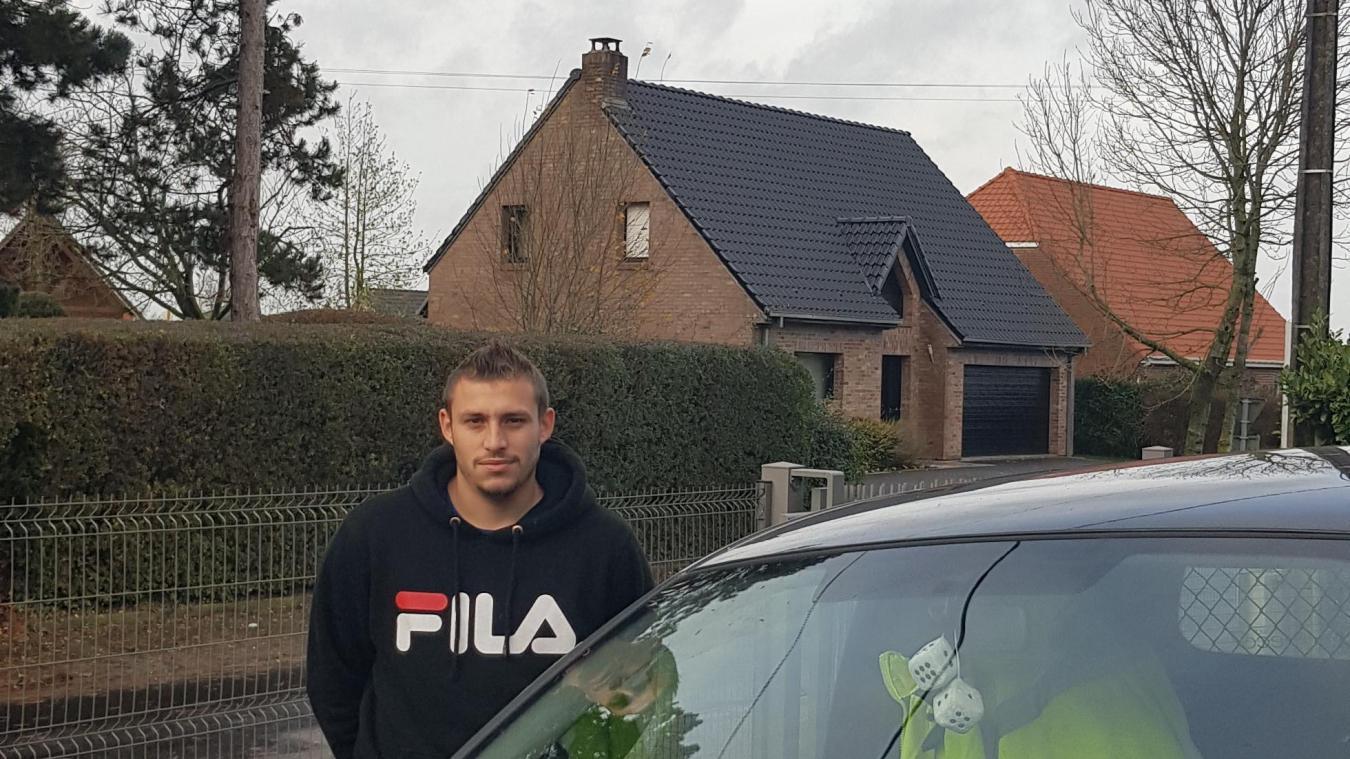 Corenthin Huvelie, 24 ans, a été victime d'une usurpation de plaques d'immatriculation. Alors qu'il était à Godewaersvelde, il a reçu des amendes pour stationnement en Gironde.