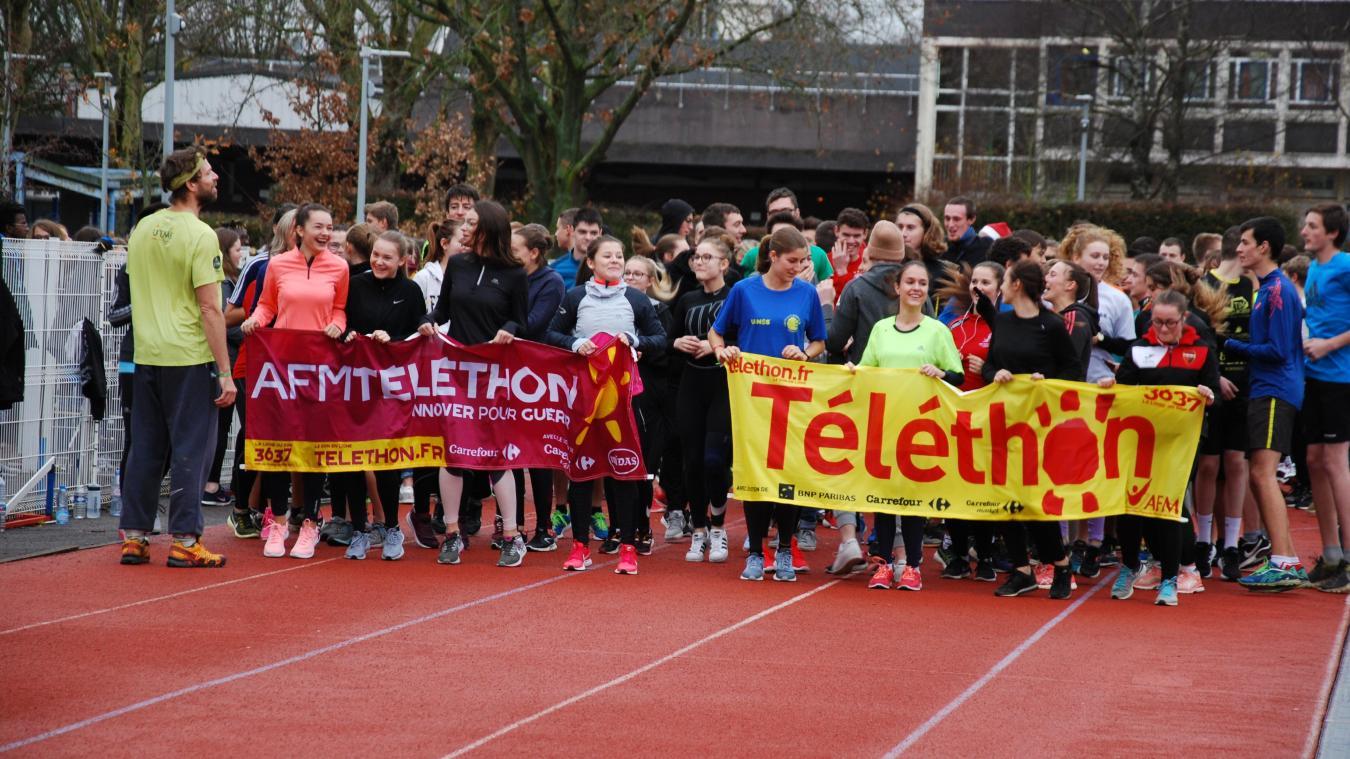 Un challenge sportif était organisé à la cité scolaire des Flandres pour le Téléthon.
