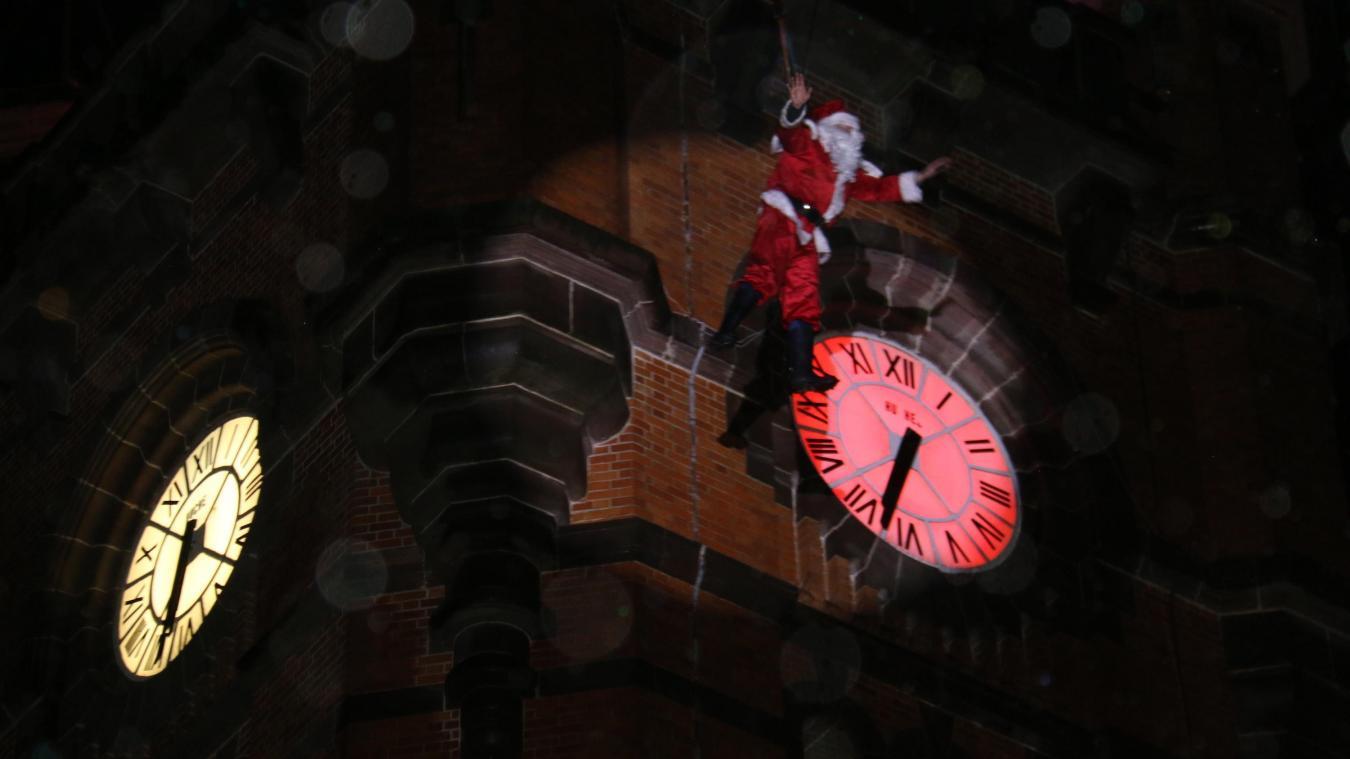 L'arrivée du Père Noël était le point d'orgue de ce week-end festif.
