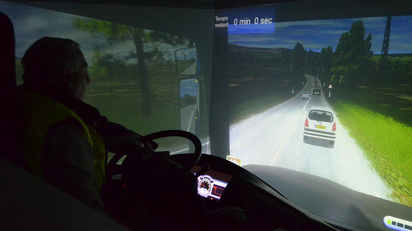 Jean-Marc, 41 ans de métier, a testé le simulateur.
