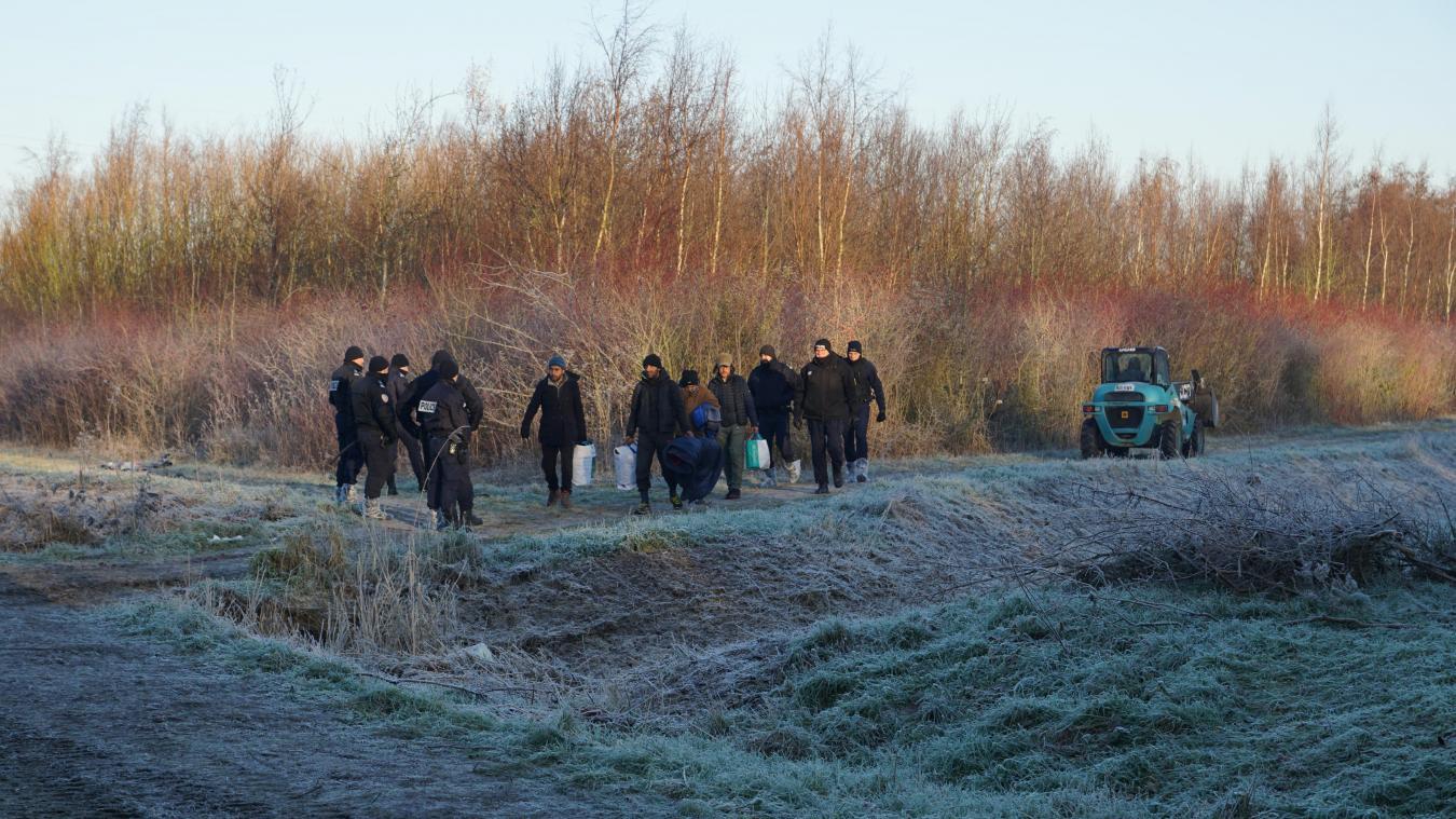 Mercredi 12 décembre, les policiers ont évacué la zone du Prédembourg.