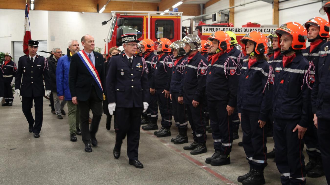 La revue des effectifs de la caserne de la Baie de la Canche a eu lieu à l'occasion de la traditionnelle fête de la Sainte-Barbe.