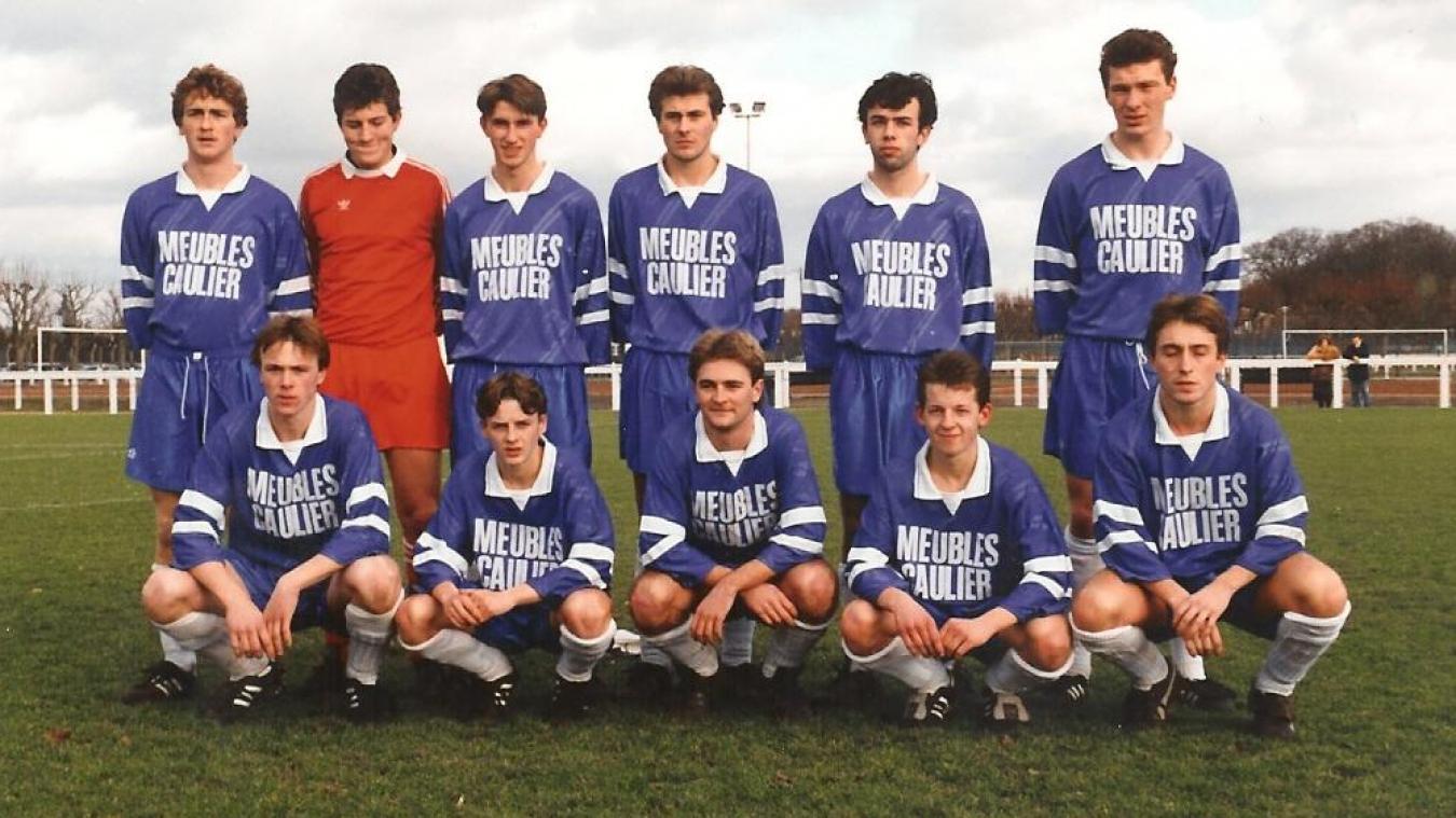 L'équipe du SCH lors du match PSG/SCH au Camp des loges, le 18 janvier 1990.