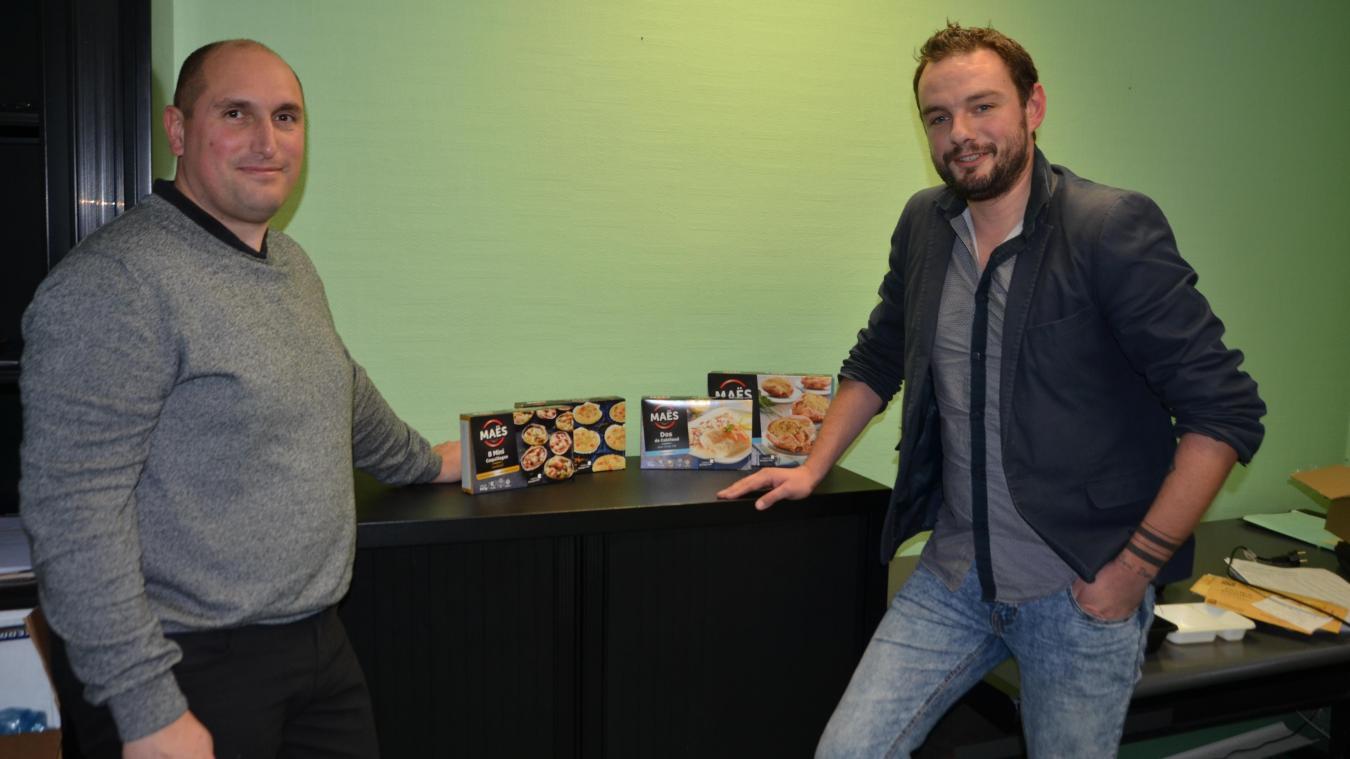 Jérôme Andrieu, directeur industriel, et Romain Butti, commercial de la société Jacques-Maës.