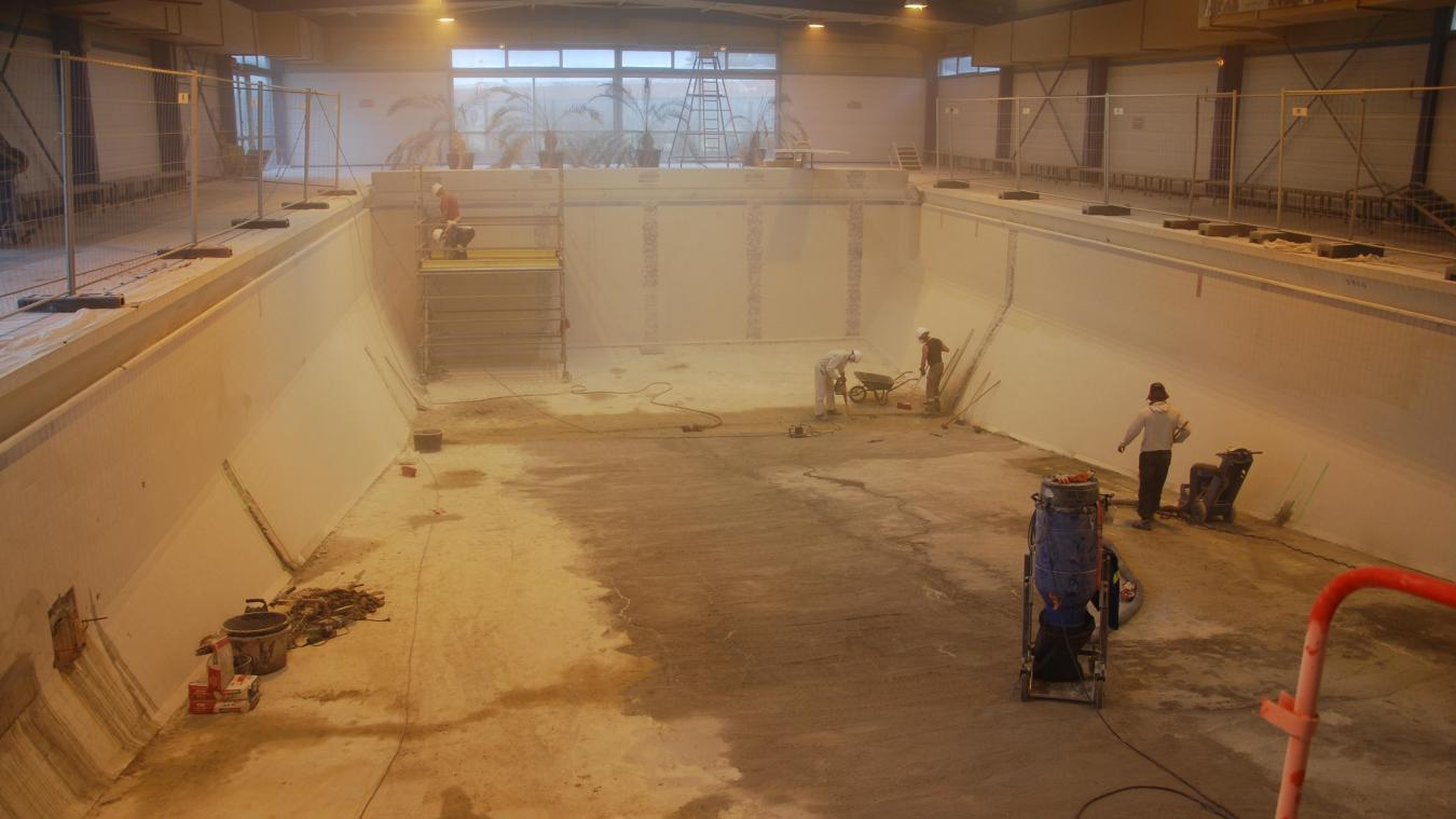 Il y a un mois, les travaux de la piscine d'Hazebrouck semblaient en bonne voie. (Archives)