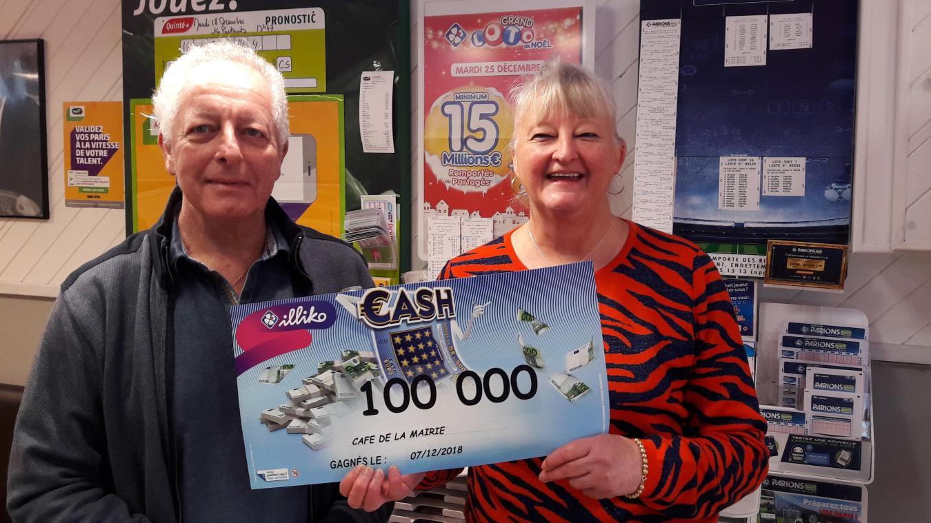 C'est la première fois qu'une telle somme est gagnée chez Jean-Luc et Claudie Germe à Saint-Martin.