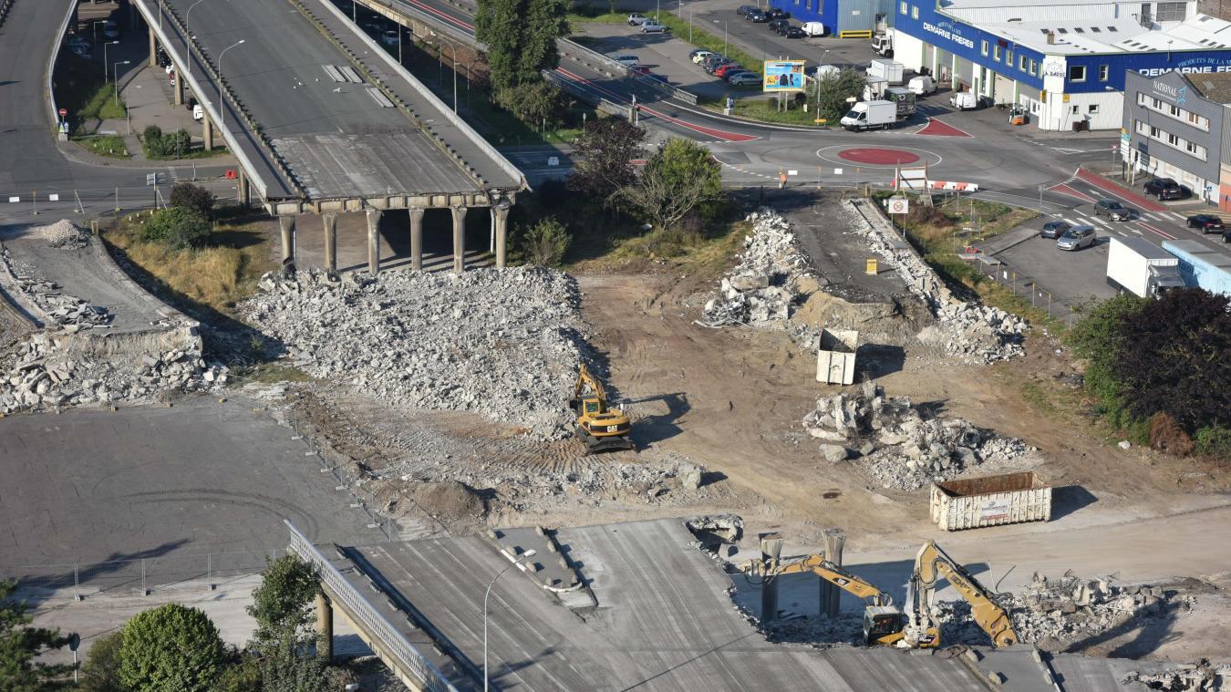Une partie du viaduc a été détruite à l'été 2016.