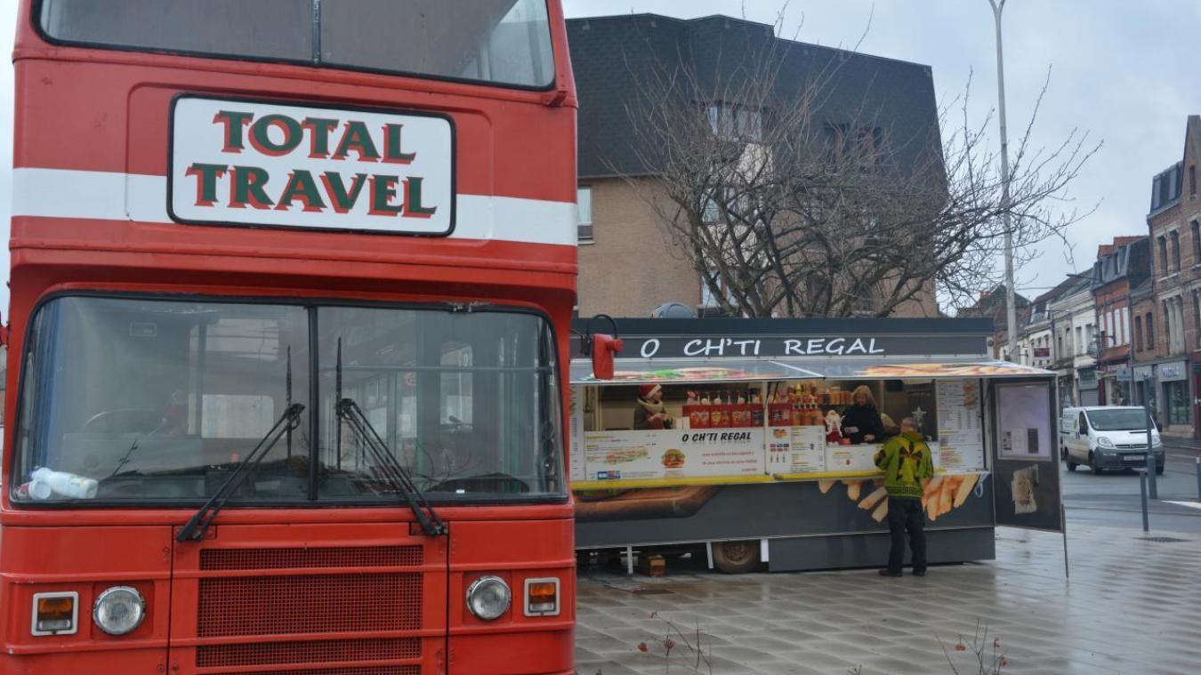 Le bus est déjà sur place depuis quelques temps.