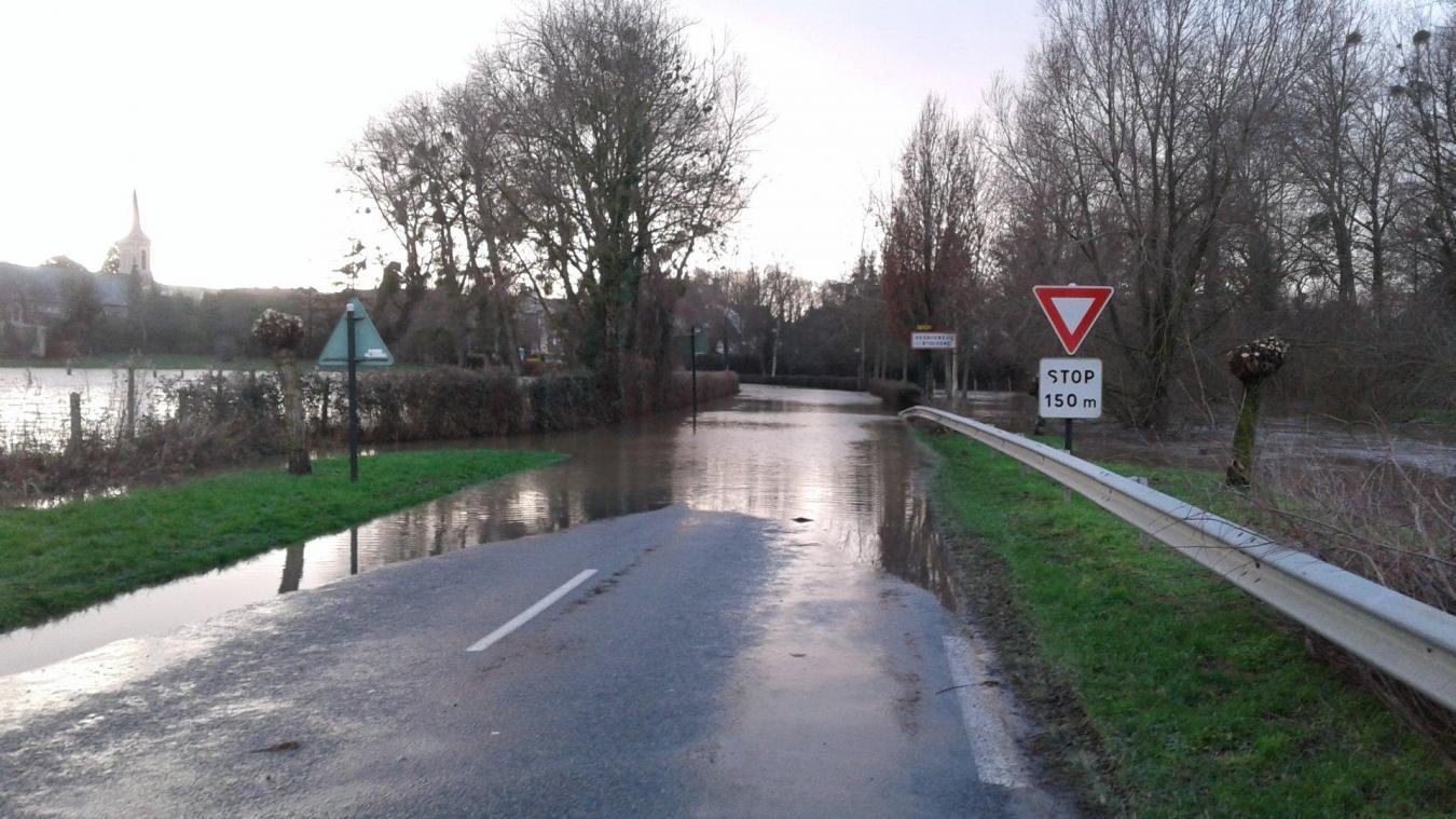 Route impraticable en Hesdin l'Abbé et Hesdigneul.