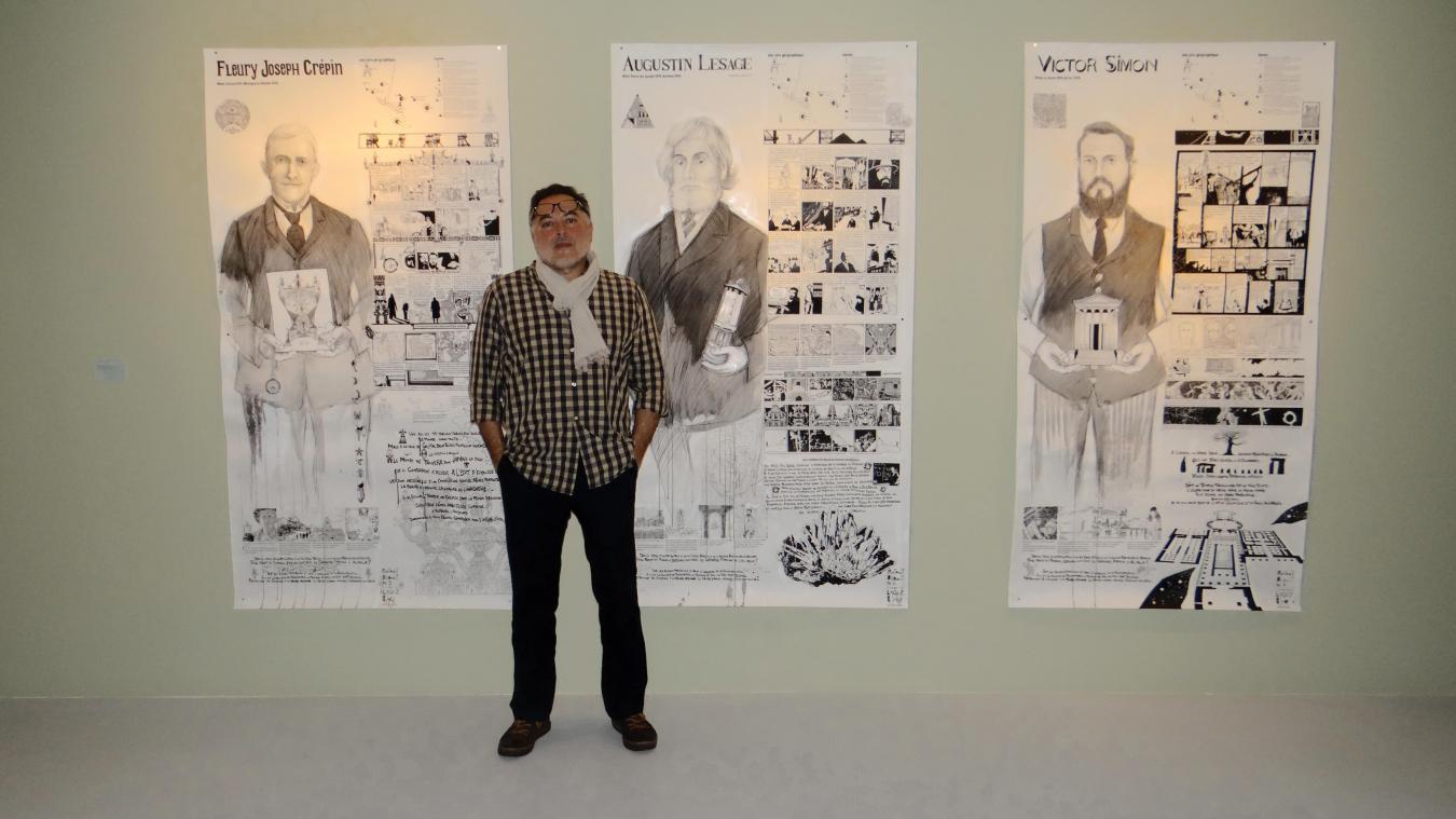 Frédéric Logez a inventé le concept qui sort la bande-dessiné des livres.