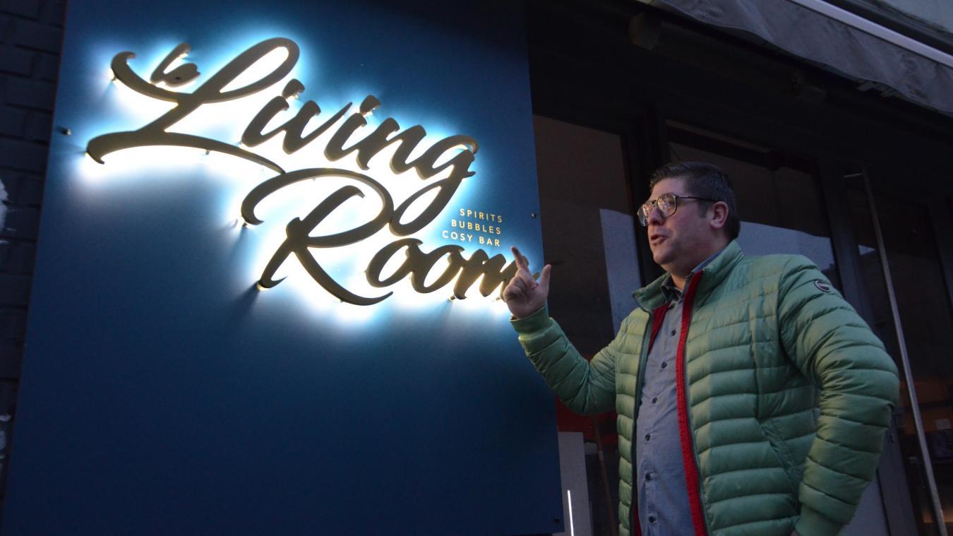 Thomas Caloone ouvre son nouveau bar, Le Living room, ce samedi, rue de la Soif, en lieu et place d'El Kuda bar.