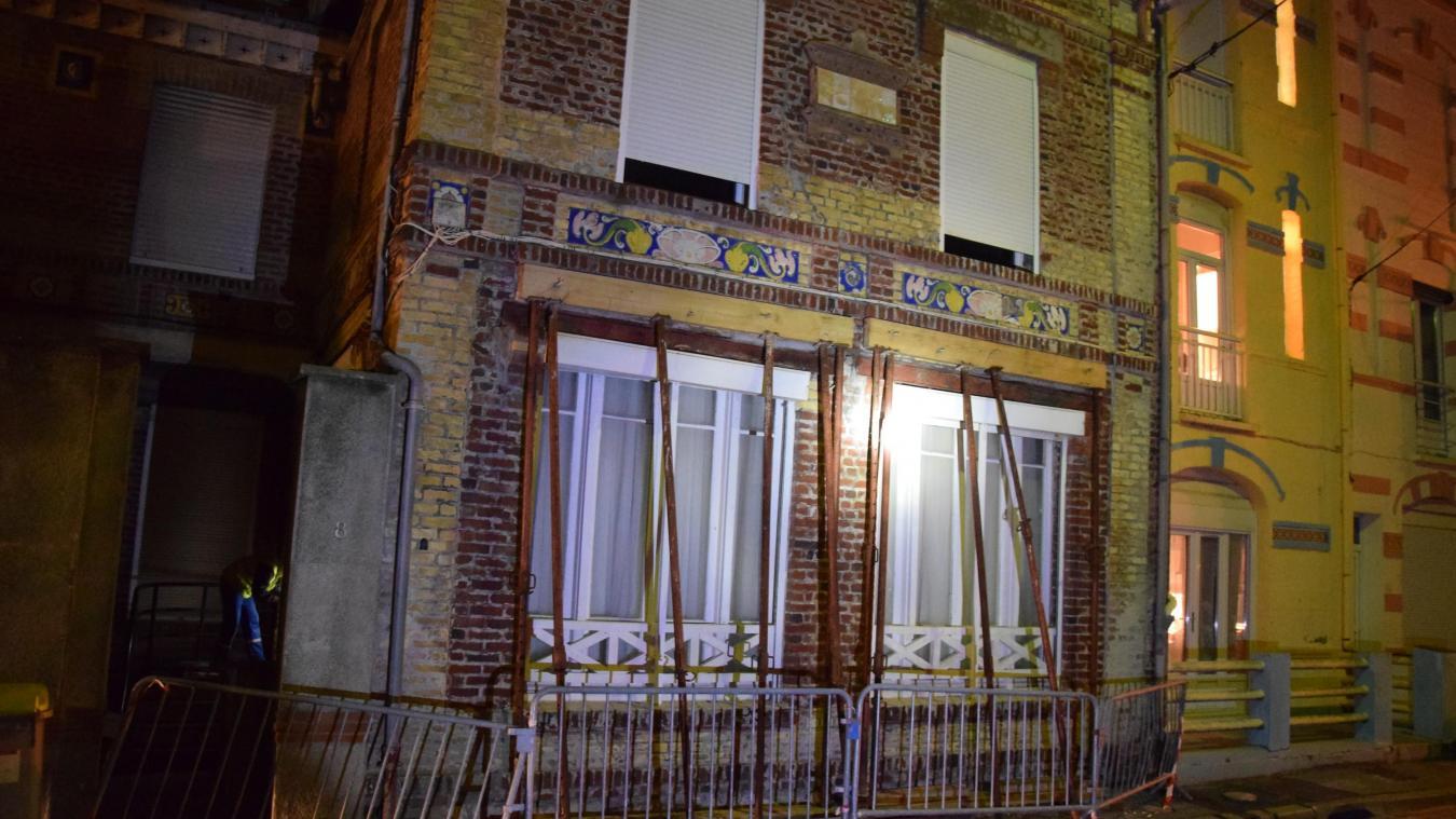 L'habitation qui a dû être évacuée est située au n°8 de la rue Cachelou.