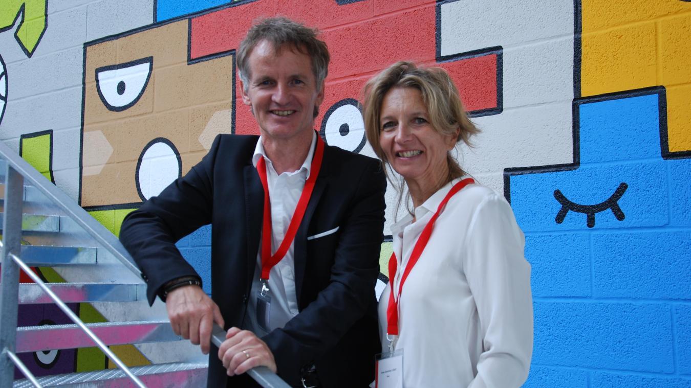Bertrand et Anne-Charlotte Lesay dirigent ensemble Somis et Direct Signalétique. « Le titre de personnalité de l'année nous revient à tous les deux », souligne Bertrand Lesay.