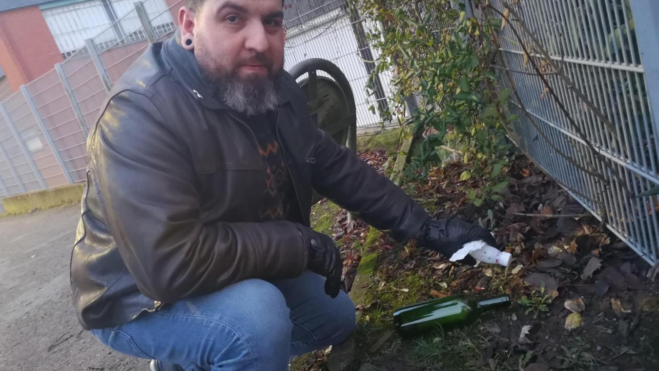 Loos-en-Gohelle : Mig chasse les déchets lors de ses balades