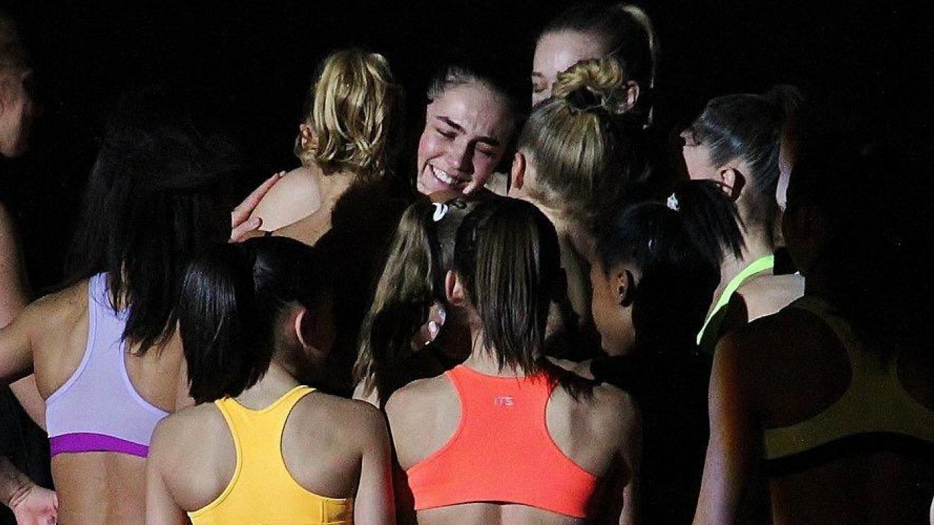 Louise Vanhille a vécu un véritable moment d'émotion lors de son dernier gala de gymnastique à Saint-Étienne, le 1 er  décembre.