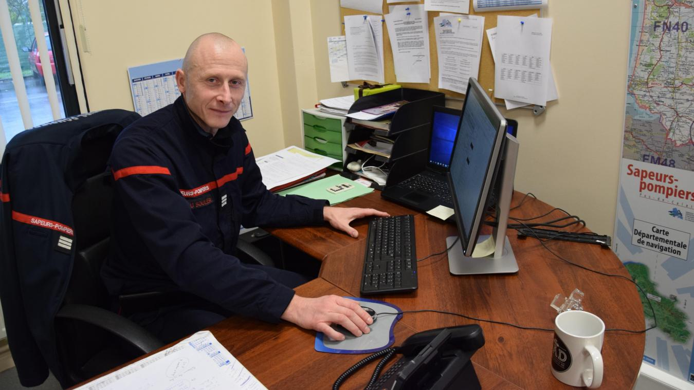 Le capitaine Du Soulier est sapeur-pompier depuis 1996.