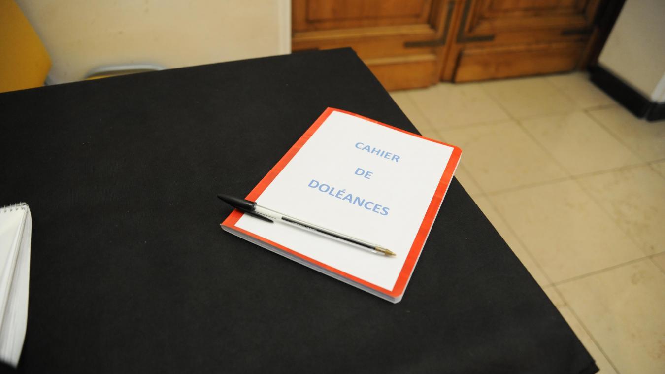 Les cahiers de doléances sont disponibles jusqu'au 15 janvier.