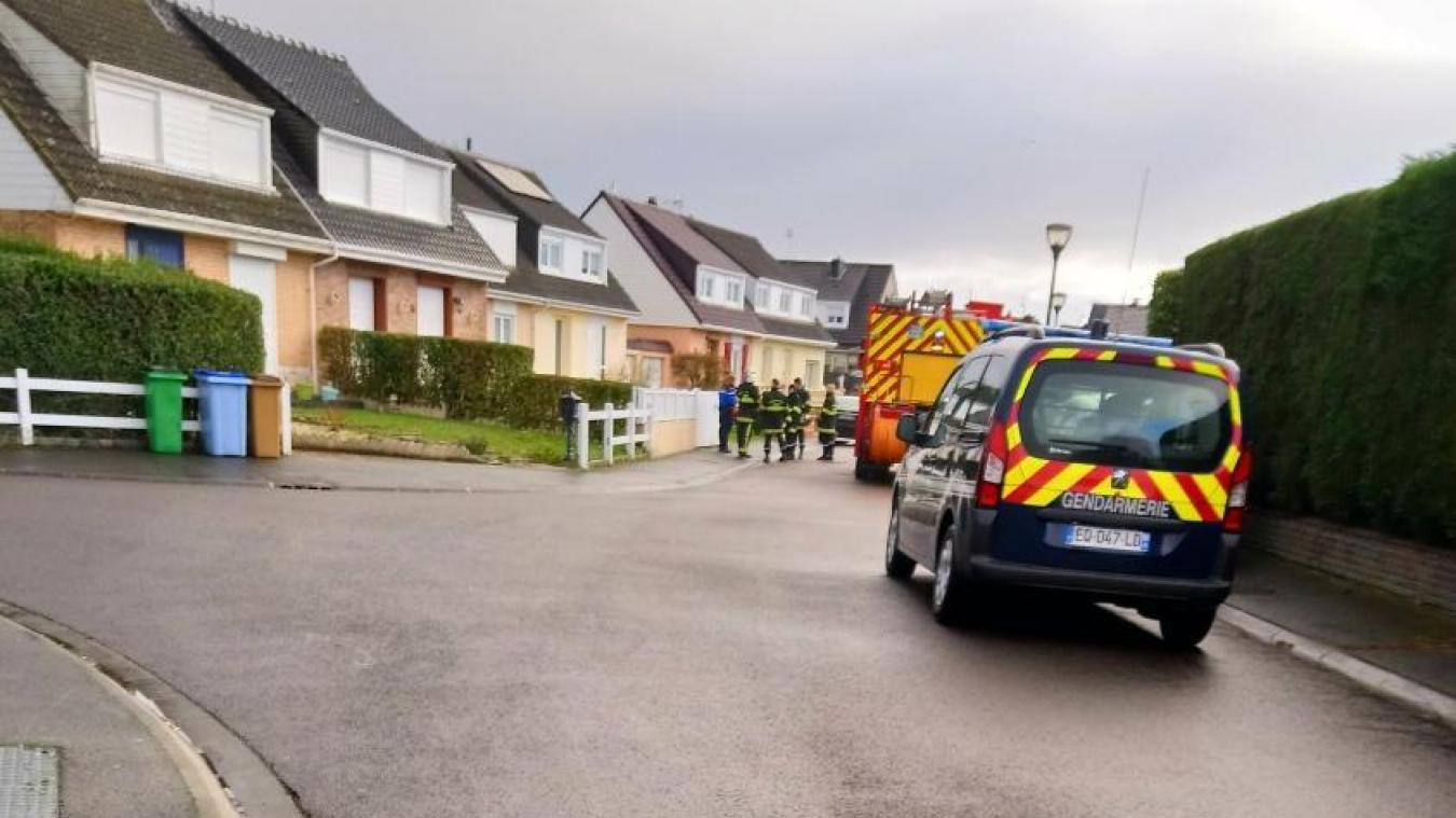 Gendarmes et pompiers ont constaté la fuite de gaz. Les agents de GRDF sont attendus sur place.