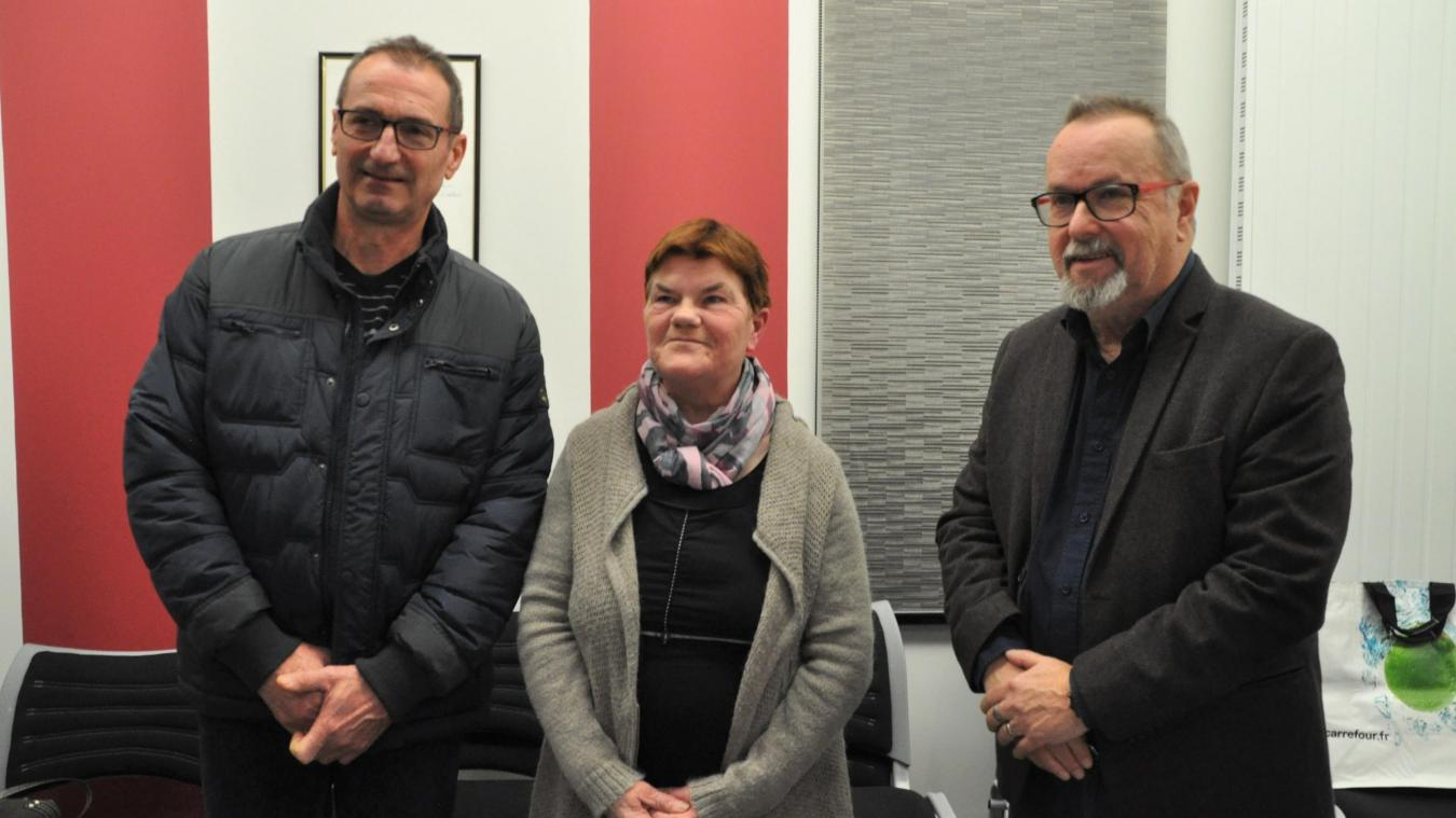 Jacques Delmaire a mis à l'honneur Patrice Hannotel et Annick Bailleul.