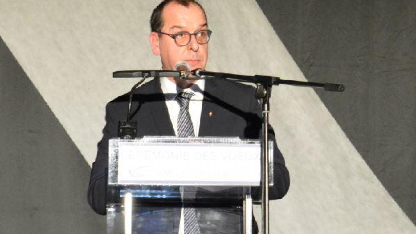 Jean-François Castell a profité de la cérémonie des vœux pour annoncer ses ambitions électorales.