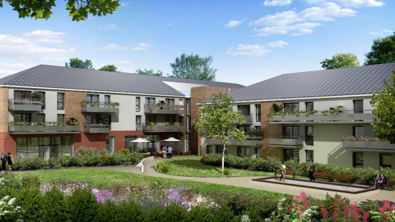 À l'instar du modèle construit sur Abbeville par Domitys, cette résidence sécurisée comptera une centaine de logements individuels.